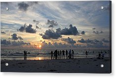 Watchers At Sunset Acrylic Print