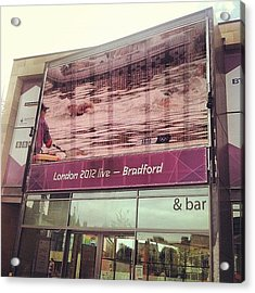 Watching #london2012 In #bradford - Na Acrylic Print by Maciej 😂 Liziniewicz