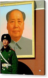 Watching Over Mao Acrylic Print by Anthony Silver