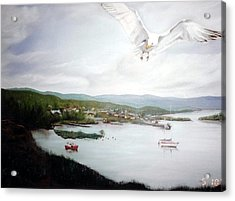 Watching Over  Rossport Acrylic Print by Joyce Reid