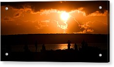 Watching Sunset Acrylic Print