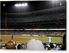 Watching The Game Acrylic Print by Malania Hammer