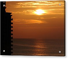 Watching The Sunset Acrylic Print by Coby Cooper