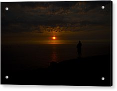 Watching The Sunset Acrylic Print by Paul Howarth