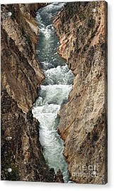 Acrylic Print featuring the photograph Water And Rock by Living Color Photography Lorraine Lynch