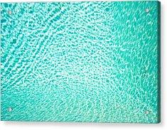 Water Background Acrylic Print by Tom Gowanlock