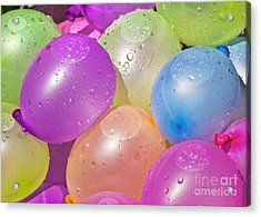 Water Balloons Acrylic Print by Patrick M Lynch