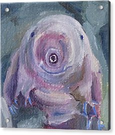 Acrylic Print featuring the painting Water Bear by Jessmyne Stephenson