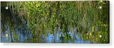 Water Emeralds And Sapphires Acrylic Print by Gretchen Wrede