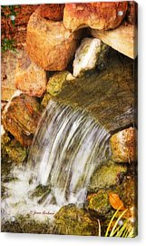 Acrylic Print featuring the photograph Water Fall by Joan Bertucci
