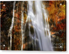 Water Flow Acrylic Print by Keith Kapple