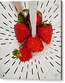 Acrylic Print featuring the photograph Water For Strawberries by David Pantuso