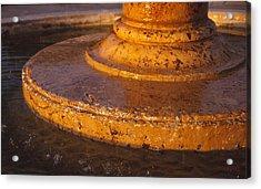 Water Fountain Base Acrylic Print