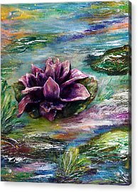Water Lilies - Two Pieces Acrylic Print