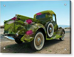 Water Lily Truck Acrylic Print by Carolyn Dalessandro