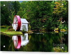 Water Mill Acrylic Print by Adrian LaRoque