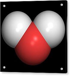 Water Molecule Acrylic Print by Friedrich Saurer