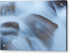 Water Over Rocks Acrylic Print by Maureen Bates