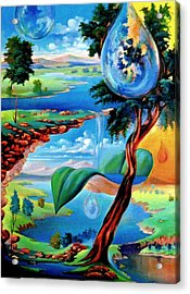 Water Planet Acrylic Print by Leomariano artist BRASIL