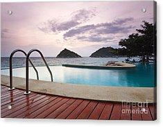 Water Pool At Koh Tao South Of Thailand Acrylic Print by Anusorn Phuengprasert nachol