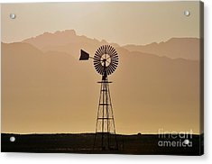 Acrylic Print featuring the photograph Water Pump Windmill by Werner Lehmann