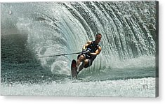 Water Skiing Magic Of Water 10 Acrylic Print by Bob Christopher
