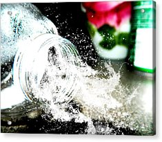 Acrylic Print featuring the photograph Water Spill by Ester  Rogers