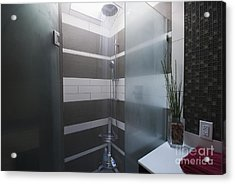 Water Turned On In A Shower Acrylic Print by Marlene Ford