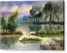 Water View Landscape Acrylic Print by Cristina Movileanu