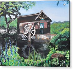 Water Wheel Acrylic Print by Melissa Torres