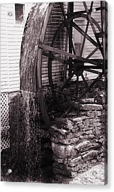 Water Wheel Old Mill Cherokee North Carolina  Acrylic Print by Susanne Van Hulst