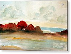 Watercolor Bay Acrylic Print by Julie Lueders