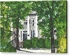 Watercolor Sketch Of Burt-stark Mansion Acrylic Print