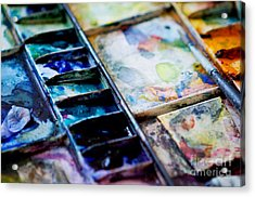 Watercolors Acrylic Print