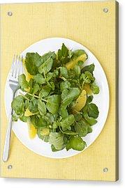 Watercress Orange Salad Acrylic Print by James Baigrie