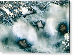 Waterfall 3 Acrylic Print by Valerie Wolf