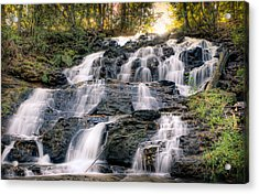 Acrylic Print featuring the photograph Waterfall by Anna Rumiantseva