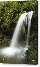 Waterfall At Springtime Acrylic Print by Andrew Soundarajan