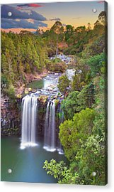 Waterfall At Sunset Acrylic Print by Yury Prokopenko