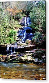 Waterfall Acrylic Print by Carrie Munoz