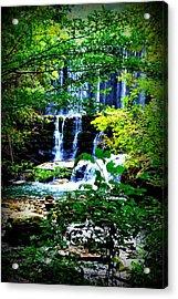 Waterfall Acrylic Print by Charles Covington