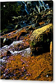 Waterfall  Acrylic Print by Howard Perry