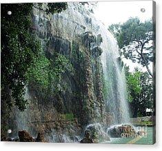 Waterfall In Nice Acrylic Print by Amalia Suruceanu