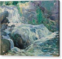 Waterfall Acrylic Print by John Henry Twachman