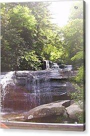 Waterfall Acrylic Print by Kelly Hazel