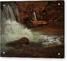 Waterfall Acrylic Print by Mario Celzner