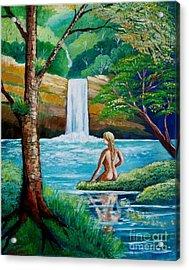 Waterfall Nymph Acrylic Print