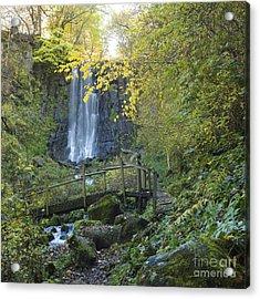 Waterfall Of Vaucoux. Puy De Dome. Auvergne. France Acrylic Print by Bernard Jaubert