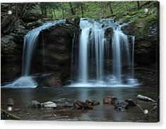 Acrylic Print featuring the photograph Waterfall On Flat Fork by Daniel Reed
