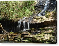 Waterfall Over Rocks Acrylic Print by Carrie Munoz